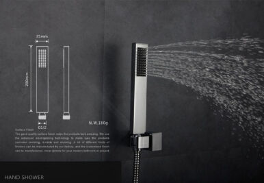 LANGFAN J1514 Shape Square Hand Shower Head For Bathroom