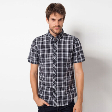 A&D Mens Casual Ms 733 - Black Check (S)