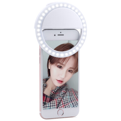 Portable Clip Flash LED Selfie Ring Light for Smartphone