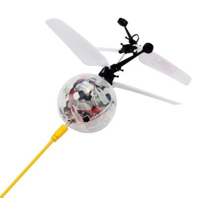 BESSKY Mini Aircraft Flashing Light Remote Toys - White
