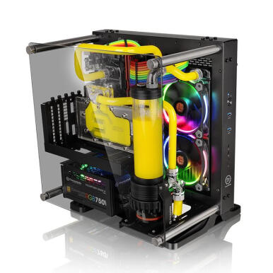 THERMALTAKE Core P1 TG /Black/Wall Mount/SGCC/Tempered Glass