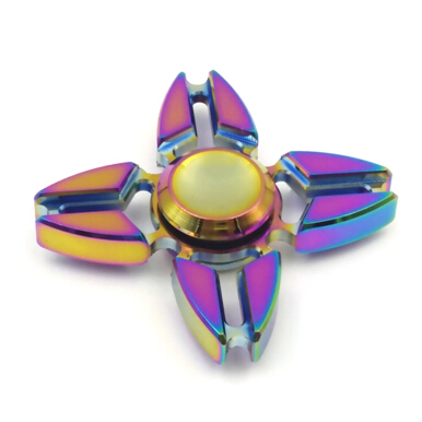 [Kingstore]Colorful Hand Toy Spinner Quadri-Spinner Finger Gyro Reducing Stress Anxiety Enhancing Finger Flexibility