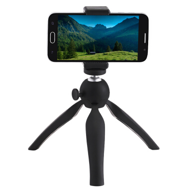 Mini 360 Rotatable Stand Adjustable Selfie Table Portable Camera Tripod Mount with Holder for Phone / Digital Camera 5.5 inch
