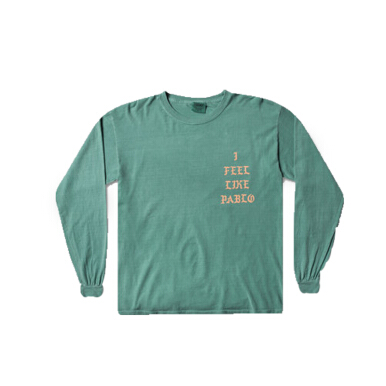 I FEEL LIKE PABLO I Feel Like Pablo Long Sleeve Green/Orange - Green/Orange [L] APIFLSGNOR
