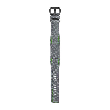 DIETRICH Karung Grey With Bright Green Stitching And Grey Pvd Buckle