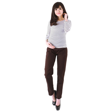 EVE MATERNITY Pregnant Pants Brown CP045B