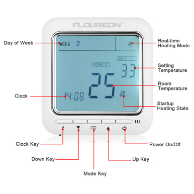 Excelvan Digital Temperature Controller Thermostat LCD Display White