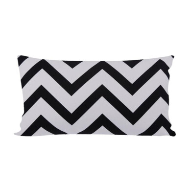 GLERRY HOME DÉCOR Black Chevron Cushion - 30x50Cm