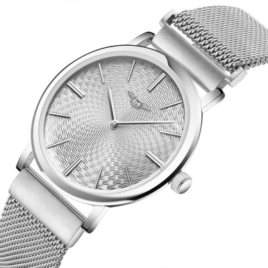 GUANQIN GS19026 - 1A Male Quartz Watch Stainless Steel Net Band Ultrathin Dial Wristwatch
