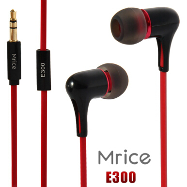 Mrice E300 Hi-Fi Triangle Cable Stereo In-ear Earphones (Black)   - Intl