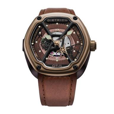 DIETRICH Bronze with Strap Dark Brown Vintage Leather / Brown Stitching [OT-5 Bronze]