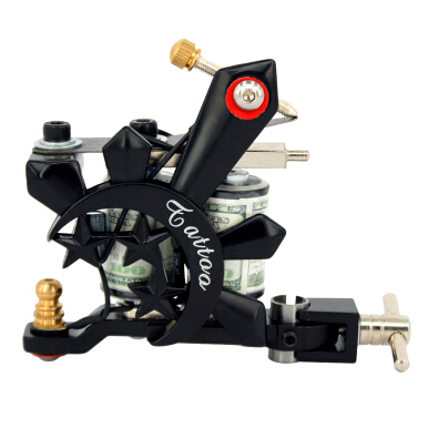 Portable Classic Tattoo Iron Machine Gun 10 Wrap Coils Liner