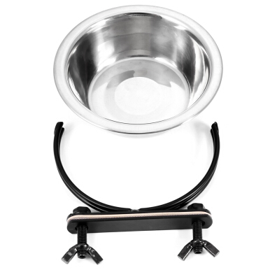 Stainless Steel Hanging Pet Food Bowl Coop Cup for Animal