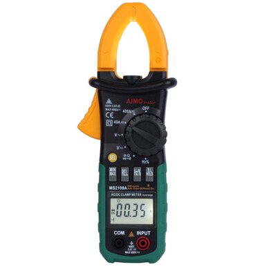 MS2108A Digital Clamp Multimeter Auto Range DC / AC Volt AC Current Resistance Capacitance Frequency Test