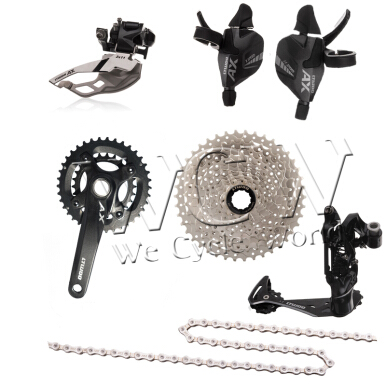 Ltwoo bicycle derailleur MTB AX(22S)2x11 series,Shift Lever,Rear Derailleur,Front Derailleur,Crankset,Cassette Sprocket,Chain-Carbon black