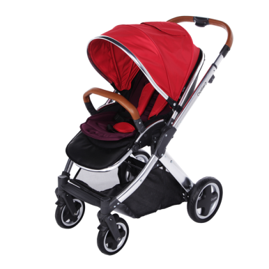 OYSTER 2 Babystyle Chrome Red (seat liner + cup holder + umbrella)