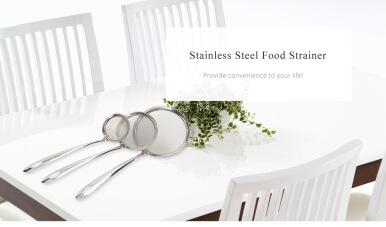 Multifunctional Stainless Steel Food Strainer Filter Oil Removal Kitchen Accessory SILVER LARGE SIZE