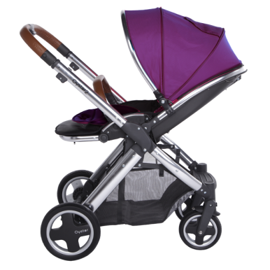 OYSTER 2 Babystyle Chrome Purple (seat liner + cup holder + umbrella)