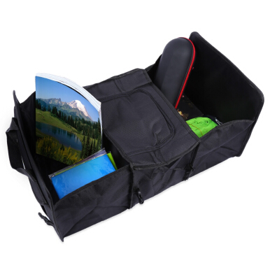 Foldable Multifunctional Vehicle Trunk Storage Bag Stretch Non-fabric Basket Organizer