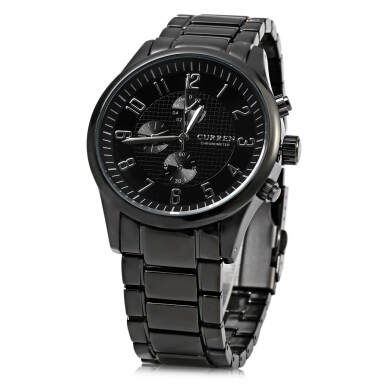 Curren 8046 Decorative Sub-dial Quartz Watch with Double Scale for Men