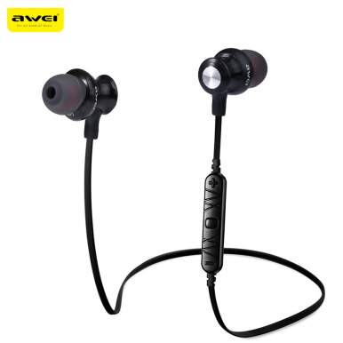 Awei A980BL Bluetooth 4.0 Wireless Sports Earphones (Black)   - Intl