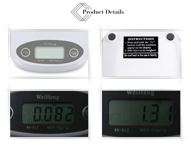 WeiHeng WH-B12 1g / 7kg Electronic Kitchen Scale Flour Tea Weighing Device