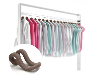 10pcs Creative Mini Flocking Clothes Hanger Hook Closet Organizer