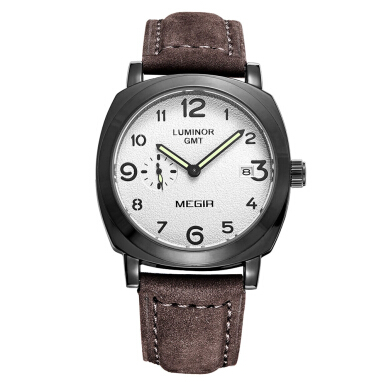 MEGIR 1046 Male Japan Quartz Watch with Date Function Working Sub-dial