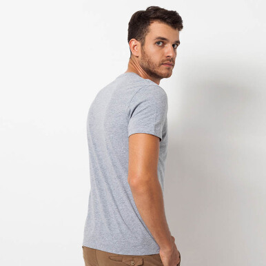 Minarno Grey Pocket Logo S/S Tee- Grey [S]