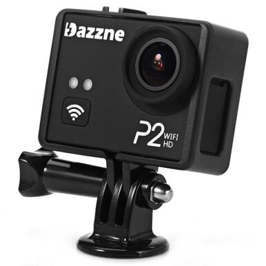 Dazzne P2 WiFi 2 inches 1080P Sports DV Action Camcorder with 130 Degree Wide Angle