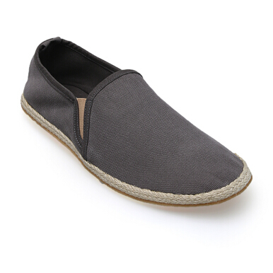 Minarno Grey Canvas Slip-On ND125 - Grey [39]