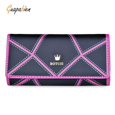 Guapabien Irregular Patterns Long Wallet Phone Pocket Card Holder for Women