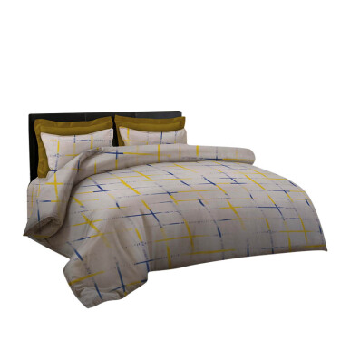 KING RABBIT Bed Cover Single - Henley Kuning / 140x230 cm