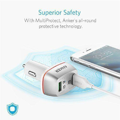 ANKER PowerDrive+ 2 With QC 3.0 - White [A2224H21]