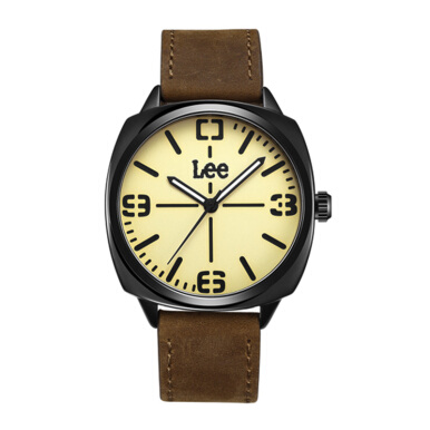 LEE Watch Metropolitan Gents M75 Brown Army 42MM [M75BBL5-91]