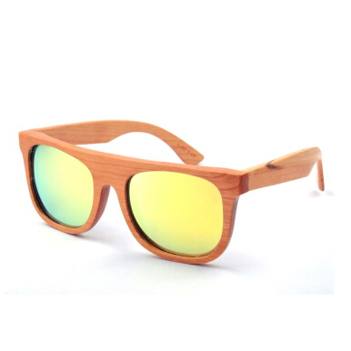TUTU Cherry Wood Flat Top Wooden Sunglasses [00010]