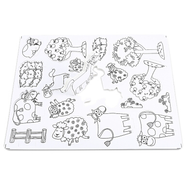 3D Drawing Puzzle Farm Building Blocks Educational