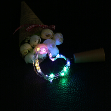 20 LEDs Cork Shape Wine Bottle Copper Wire String Light