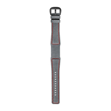 DIETRICH Karung Grey With Bright Red Stitching And Grey Pvd Buckle