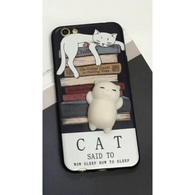 iPhone 6 /i6s 4.7inch Cute 3D Cartoon Doll Cat Soft TPU Cover Case