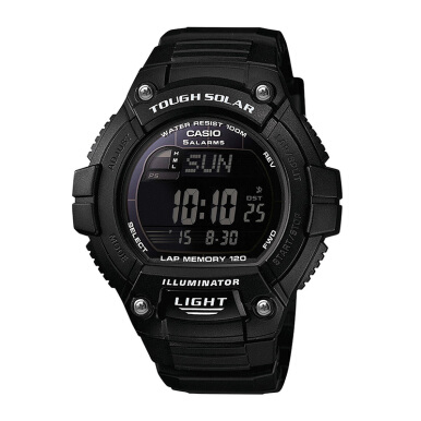 CASIO Tough Solar - Water Resistance 100M Black Resin Band - [W-S220-1BVDF]