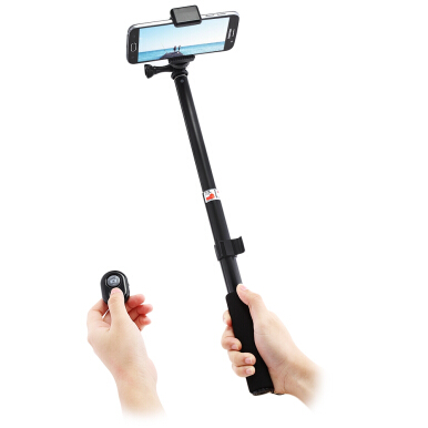 Portable Metal Water-resistance Monopod Tripod Extendable Selfie Stick Bluetooth Remote Camera Shutter