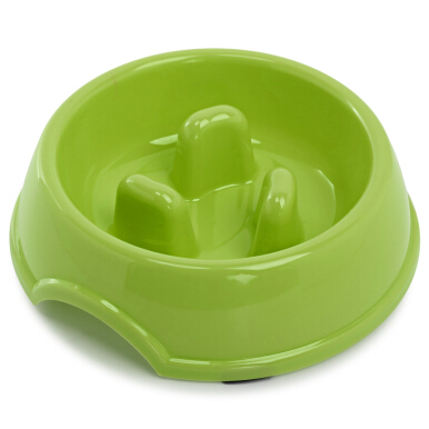 Plastic Slow Feeding Healthy Bowl for Pet Dogs and Cats