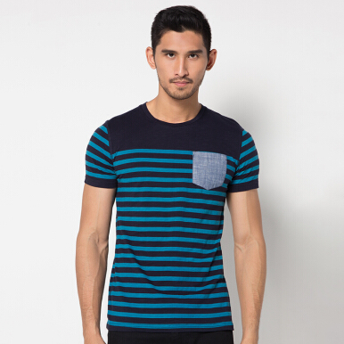MINARNO Stripes Pocket 06 - Navy [S]