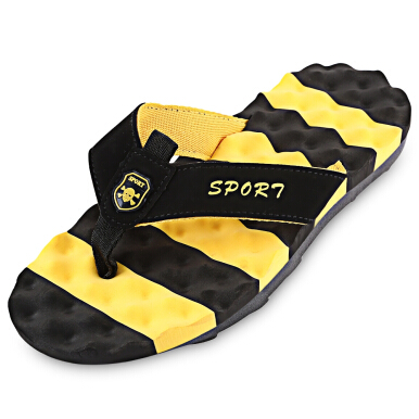Casual Color Block Massage Male Flip-flop Slippers