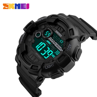 SKMEI 1243 Male Sports Watch EL Backlight 50M Waterproof Wristwatch