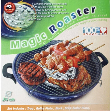 MASPION Magic Roaster / Panggangan Enamel 34 cm - Hitam