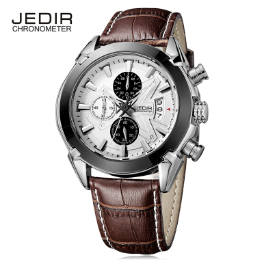 JEDIR 2020 Male Quartz Watch Chronograph Calendar 3ATM Wristwatch for Men