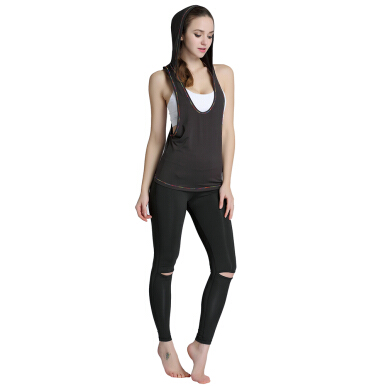 Woman Sports Jacket Quick-dry Breathable Sleeveless Hoodie Activewear for Yoga Running Workout