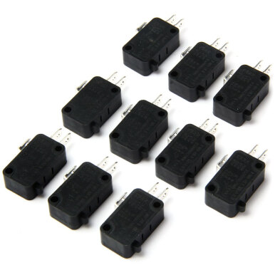 DIY 3Pin Micro Switch - 10PCS / AC 250V 6A